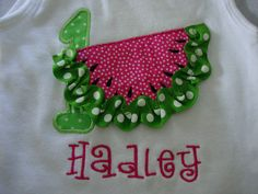 Personalized Watermelon Applique Shirt by tharris39 on Etsy, $20.00