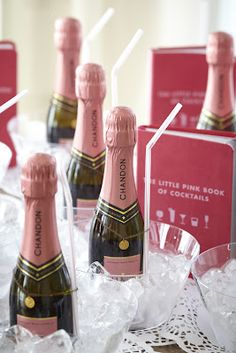 Mini Champagne Bottles in Ice Bowls (via everything-pretty.com)