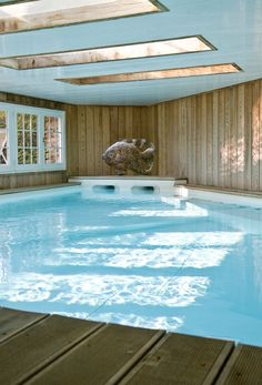 Heated indoor swimming pool at Villa Louise in Burgundy, Cote d'Or. #swimmingpool #france #hotel #travel