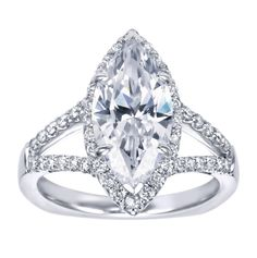marquee shaped engagement ring   Halo Engagement Ring Setting Marquise Cut 4 - Gerry The Jeweler