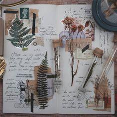 20 Pieces of Botanical PET Sticker Series - Planner, Journal, Craft, Scrapbooking, Decoration - art - Art Journal Pages, Album Journal, Bullet Journal Ideas Pages, Scrapbook Journal, Bullet Journal Inspiration, Diy Scrapbook, Art Journals, Planner Journal, Photo Journal