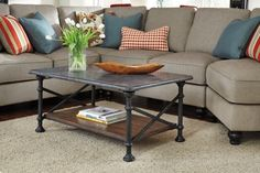 Gray/Brown Tallenfield Coffee Table View 1