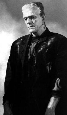 """Boris Karloff as The Monster in """"Bride of Frankenstein"""" Monster Horror Movies, Classic Monster Movies, Horror Monsters, Classic Horror Movies, Classic Monsters, Boris Karloff Frankenstein, Bride Of Frankenstein, Cool Monsters, Famous Monsters"""