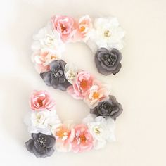 """Custom 13"""" Floral Letter for nurseries, weddings and parties by PrettyLttlThings on Etsy https://www.etsy.com/listing/266417220/custom-13-floral-letter-for-nurseries"""