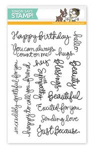 *Simon Says Clear Stamps STAMPtember™ HANDWRITTEN SENTIMENTS Exclusive - I love Kristina's hanwriting