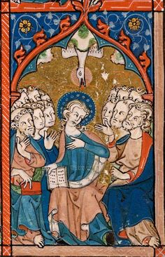 Pentecost | Psalter | England, East Anglia or London |  ca. 1300-1310 | The Morgan Library & Museum
