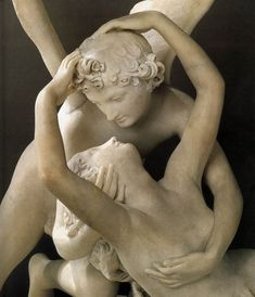 "Antonio Canova, ""Psyche Revived by Cupid's Kiss"" (detail), 1786-93. Louvre Museum"