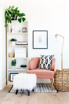 23 ideas home interior design living room boho Living Room Designs, Living Spaces, Living Rooms, Living Area, Cozy Living, Living Room Ideas For Small Rooms, Family Rooms, Bookshelf Living Room, Small Livingroom Ideas