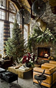 Most of us in the quest of contemporary Christmas decorations end up with hefty bills and lots of chaos in the home. Contemporary Christmas decorations never mean that you have to stuff your home with each and every decorative item… Continue Reading → Farmhouse Christmas Decor, Rustic Christmas, Christmas Home, Cabin Christmas Decor, Xmas, Modern Christmas Decor, Christmas Design, Christmas Trees, Christmas Holidays