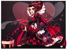 Ever After High i think this is the way Lizzie Hearts would look like when she grows up <3♡♥♡♥