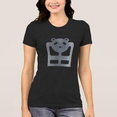 Designed stylish Iron bear women's jersey black tshirt HQH