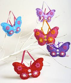 Bright Felt Butterfly Sewing Kits: £8.99