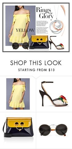 """""""Untitled #2591"""" by gordana-danilov ❤ liked on Polyvore featuring Charlotte Olympia, Tiffany & Co., J.W. Anderson and Prada"""