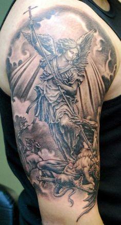 http://tattoomagz.com/religious-design-tattoo/black-and-white-religious-tattoo/