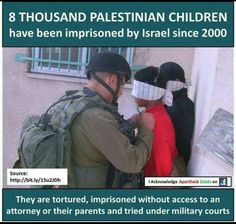 8000 Palestinian children have been imprisoned by Israel since 2000 Apartheid, We Are The World, Oppression, Human Rights, Einstein, Allah, Peace, Children, Special Friends