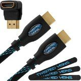 Twisted Veins (10 ft) High Speed HDMI Cable   Right Angle Adapter and Velcro - onlinedigitalcame...