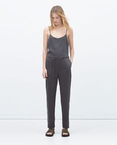 Image 1 of JUMPSUIT WITH STRAPS from Zara