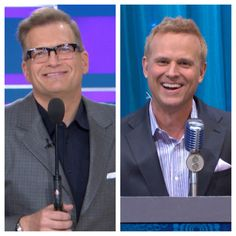 "Price is Right Host, Drew Carey and George Gray sport their ""no tie look"" for our Father's Day special!"
