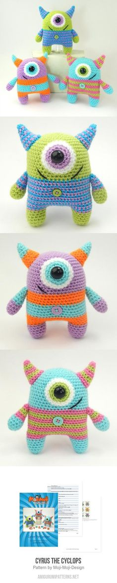 Cyrus The Cyclops Amigurumi Pattern