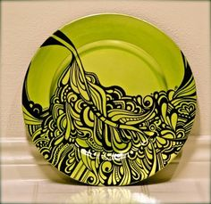 Hand Painted Plate by The Graphix Chick , via Behance
