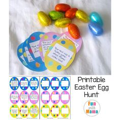 Looking for Easter Crafts? This fun Printable Easter Scavenger Hunt Clues includes clues as well as blank eggs for you to write your own clues on. This activity is appropriate for toddlers, preschoolers, kindergarteners and even elementary age kids. You can write in your own clues or if you want you can use the Easter Egg Hunt clues for preschool kids.   My 7 and 9 year old LOVE creating hunts for us using this printable activity.They have so much fun with it and it inspires open ended…