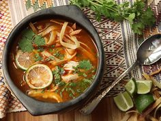Sopa de Lima - Yucatan Mexican Lima Soup (I had this soup there~) Authentic Mexican Recipes, Mexican Food Recipes, Soup Recipes, Ethnic Recipes, Citrus Recipes, Mexican Dishes, Gumbo Recipes, Dinner Recipes, Healthy Recipes