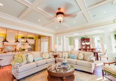 I love the ceiling.  This is what I want to do in the game room.  Stephen Alexander Homes - House of Turquoise