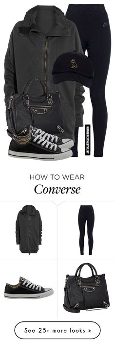 """""""Untitled #2137"""" by whokd on Polyvore featuring NIKE, Haider Ackermann, Balenciaga and Converse"""