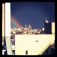 Rainbow on Paris