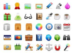 48 pixels web iconset: includes a total ammount of 226 icons related to websites, design, e-commerce...