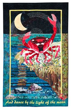 Ruby Sue Sews Her Seeds in the Sea by Marie O'Kelley. Hand Quilting, 2nd Place: 2013 Northwest Quilting Expo