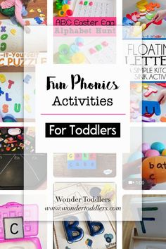 Check out my collection of fun and engaging phonics activities :)   #wondertoddlers #phonics #phonicsactivities #toddlers #toddleractivities #parenting #parentingtips #reading #eyfs #eyfsactivities #literacyactivities #literacy #reading #sounds #letters #soundsandletters