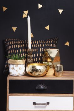 When Black meets Gold.... by General Eclectic #GeneralEclectic #homewares #metallic