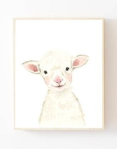 Nursery prints lamb nursery lamb painting farm nursery decor farm animal prints nursery prints boy b Baby Nursery Sets, Lamb Nursery, Farm Animal Nursery, Woodland Nursery, Nursery Prints, Nursery Art, Nursery Decor, Wall Decor, Wall Art