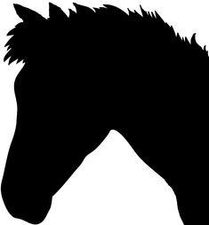 cute horse head silhouette
