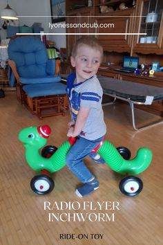[Ad] The famous inchworm, a classic under the ride-on toys since the early 1970s and first designed from a clothes dryer's hose, is also one of my son's favorite toys. He's rocking it! I mean, the whole apartment is shaking ;) This toy can't be missing in a wild, active family... Radio Flyer, Ride On Toys, One Design, Toddler Toys, Inventions, 1970s, Kids Rugs, Children, Classic
