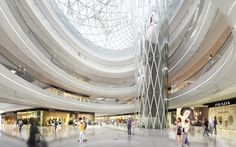 Hanjie wanda square by un studio viz в 2019 г. shopping m Commercial Complex, Commercial Design, Commercial Interiors, Commercial Center, Interior Rendering, Shop Interior Design, Modern Interior, Mall Design, Retail Design
