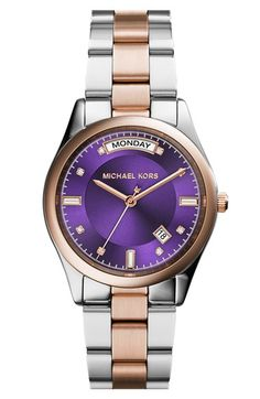 MICHAEL Michael Kors Michael Kors 'Colette' Round Bracelet Watch, 34mm available at #Nordstrom