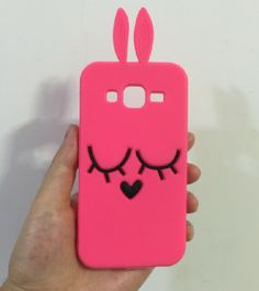 3D Rose Red Rabbit Silicone Soft Cover Back Case For Samsung Galaxy Core Prime…