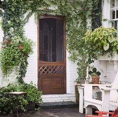charming custom screen door, ew can also do in all glass making it a storm door. Wooden Screen Door, Windows And Doors, House Exterior, Front Door, Farmhouse Front Door, Entry Doors, Exterior Doors, Doors, Wooden Screen