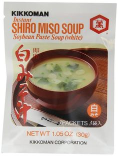 Kikkoman has created single servings of authentic Shiro (White) Miso Soup using real miso for unequalled flavor and aroma. Also try Kikkoman AKA (Red) Miso Sou