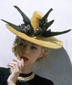 Millinery. Lucille Ball in a 1939 Vogue Hat #millinery #judithm #hats