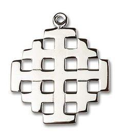 Sterling Silver Jerusalem Cross Pendant 5546SS