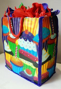 Edible Birthday Gift Bag Cake!