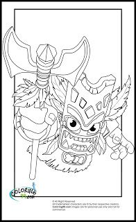skylanders coloring pages for boys - photo#13