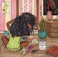 """""""Sunday is for two strand twist outs and tings, right? Art Black Love, Black Girl Art, Art Girl, Black Girls, Black Women, Natural Afro Hairstyles, Twist Hairstyles, Trendy Hairstyles, Drawing Hairstyles"""