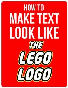 Learn how to Make Text Look Like the Lego Logo. I will walk you through the steps of turning your kid's name or whatever you like into a lego lookalike.