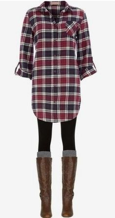 Stitch Fix Fashion. Ask your stylist to send you items like this for a comfortable, but very stylish look. Plaid is very in right now and leggings are every women's go to item. Pair with boots and you're good to go. Fall/Winter Fashion. #StitchFix #Sponsored