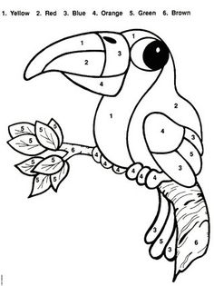 Coloring Page: Color By Number Animal-Free printable - Coloring Page: Color By Number Animal-Free printable - Preschool Colors, Free Preschool, Preschool Worksheets, Preschool Activities, Animal Coloring Pages, Colouring Pages, Coloring Books, Alphabet Coloring, Free Coloring