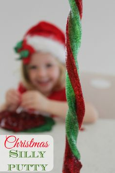 Christmas Silly Putty - SUPER fun holiday activity!